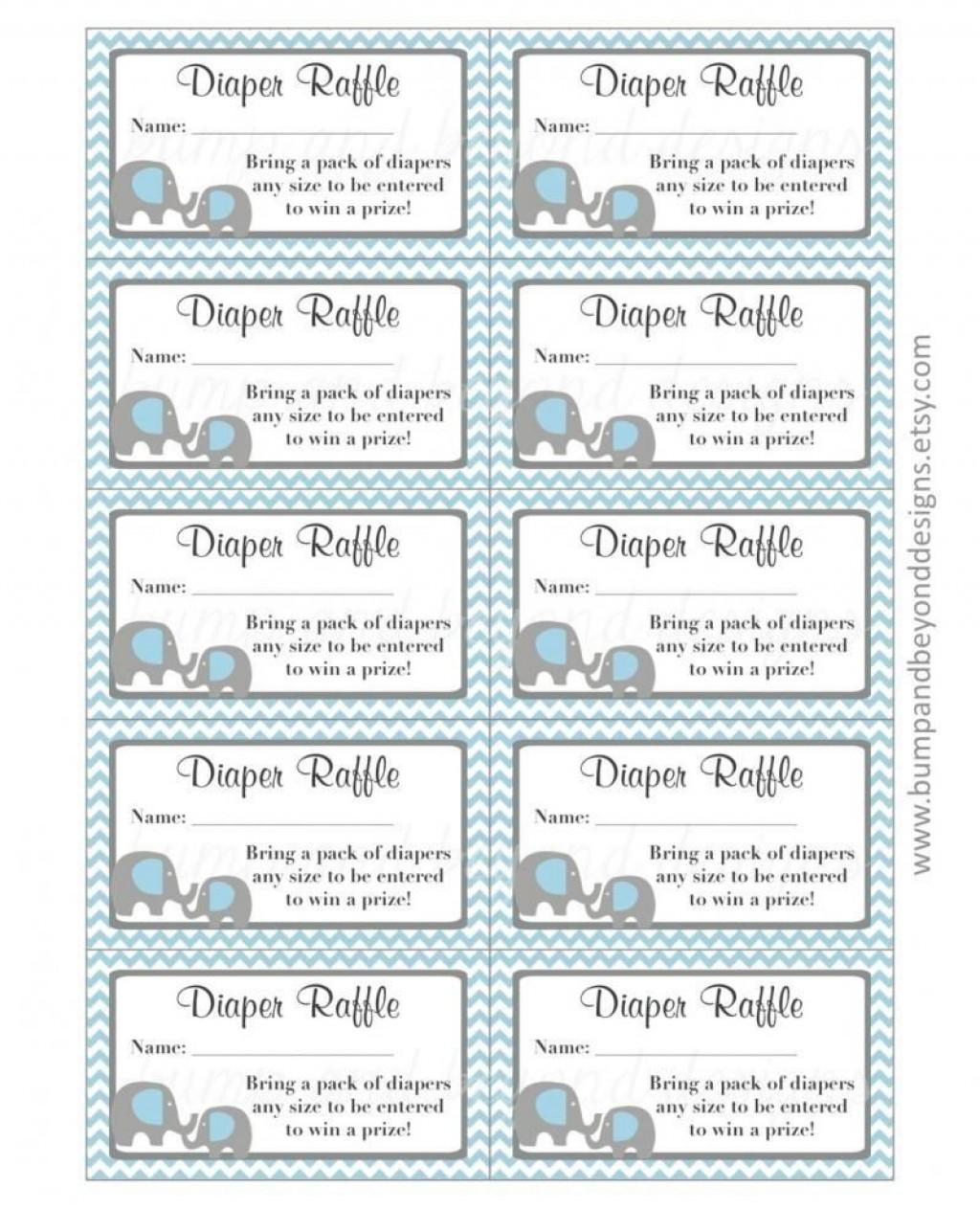 002 Formidable Diaper Raffle Ticket Template Sample  Boy Free Printable Print Black And WhiteLarge