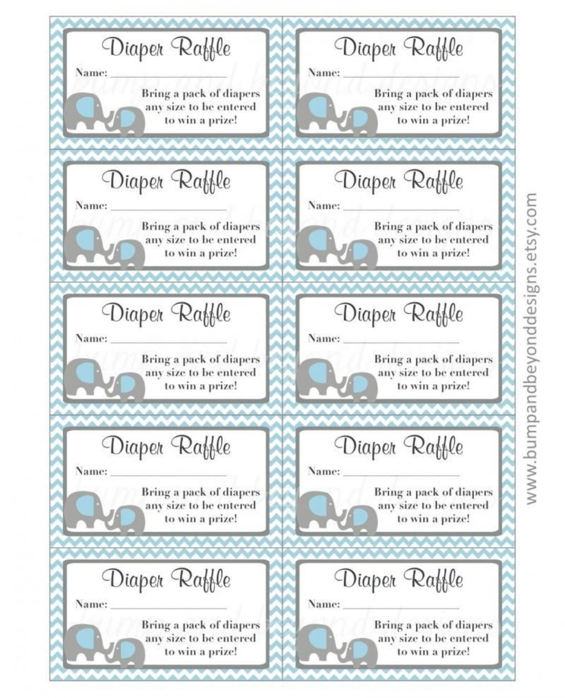 002 Formidable Diaper Raffle Ticket Template Sample  Boy Free Printable Print Black And White1920