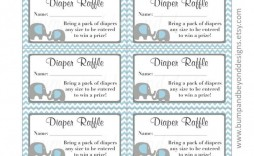 002 Formidable Diaper Raffle Ticket Template Sample  Boy Free Printable Print Black And White
