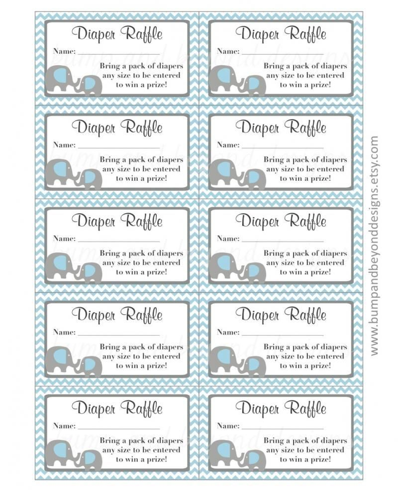 002 Formidable Diaper Raffle Ticket Template Sample  Boy Free Printable Print Black And WhiteFull