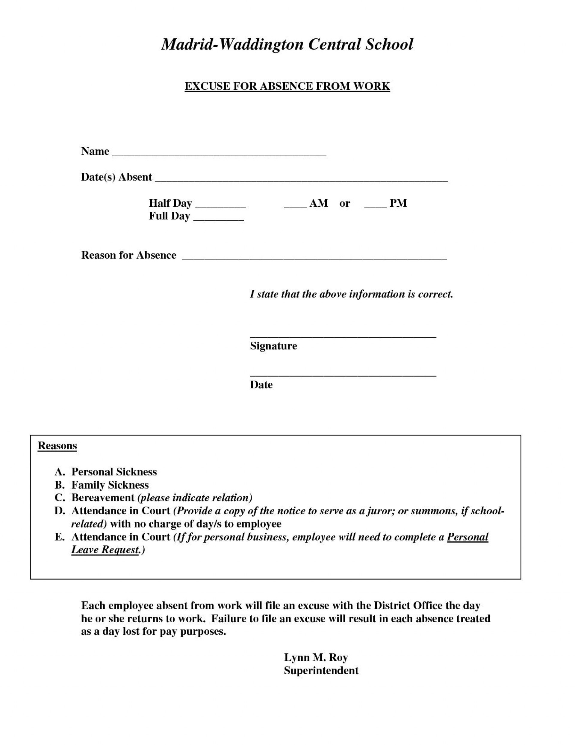 002 Formidable Doctor Note For Work Template Inspiration  Doctor' Missing Excuse Pdf1920
