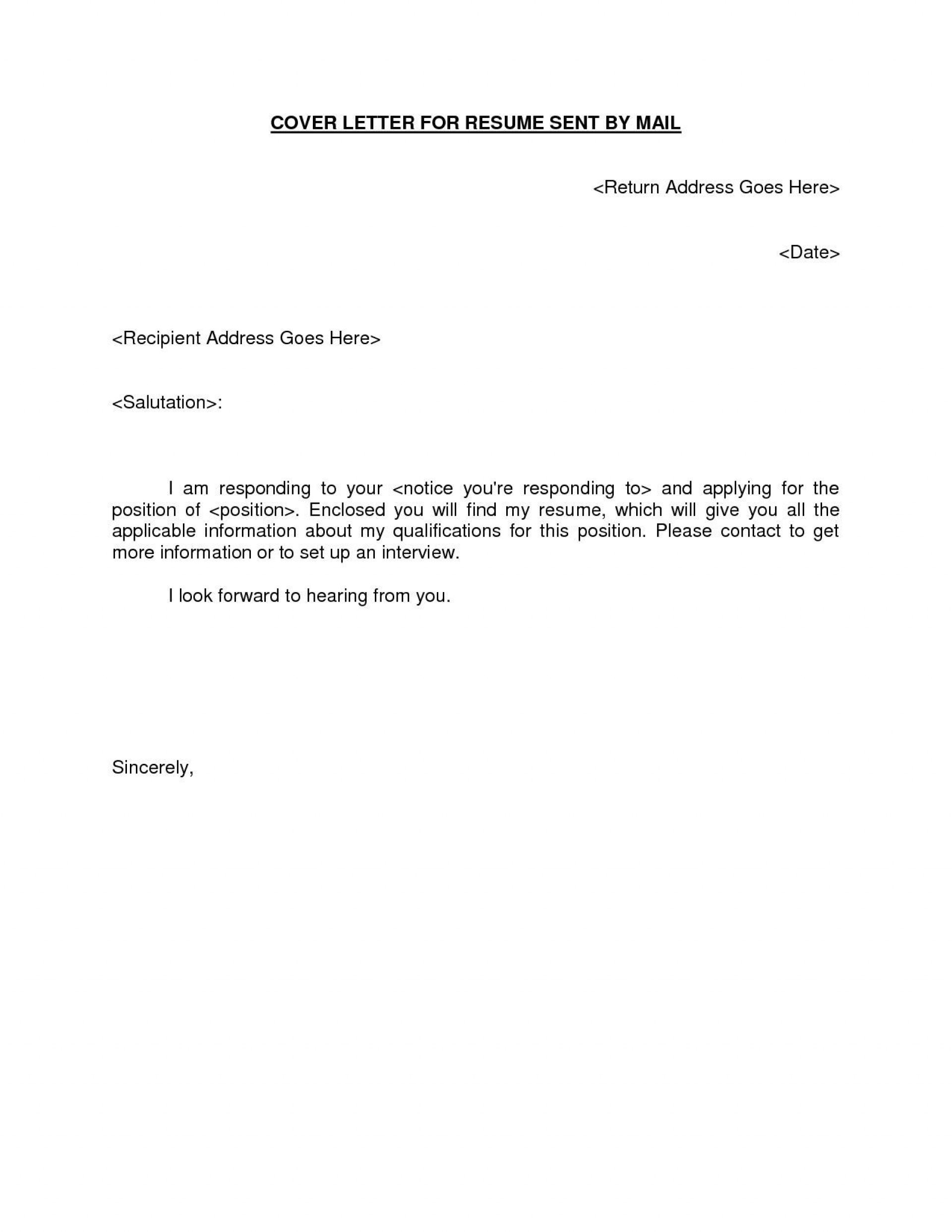 002 Formidable Email Cover Letter Example For Resume Idea  Sample Through Attached1920