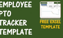 002 Formidable Excel Pto Tracker Template Photo  Employee Vacation Spreadsheet 2019 Free