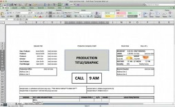 002 Formidable Film Call Sheet Sample  Template Download Excel Google Doc
