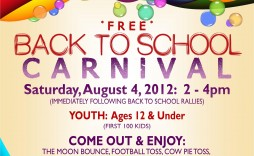002 Formidable Free School Carnival Flyer Template Concept  Templates Download