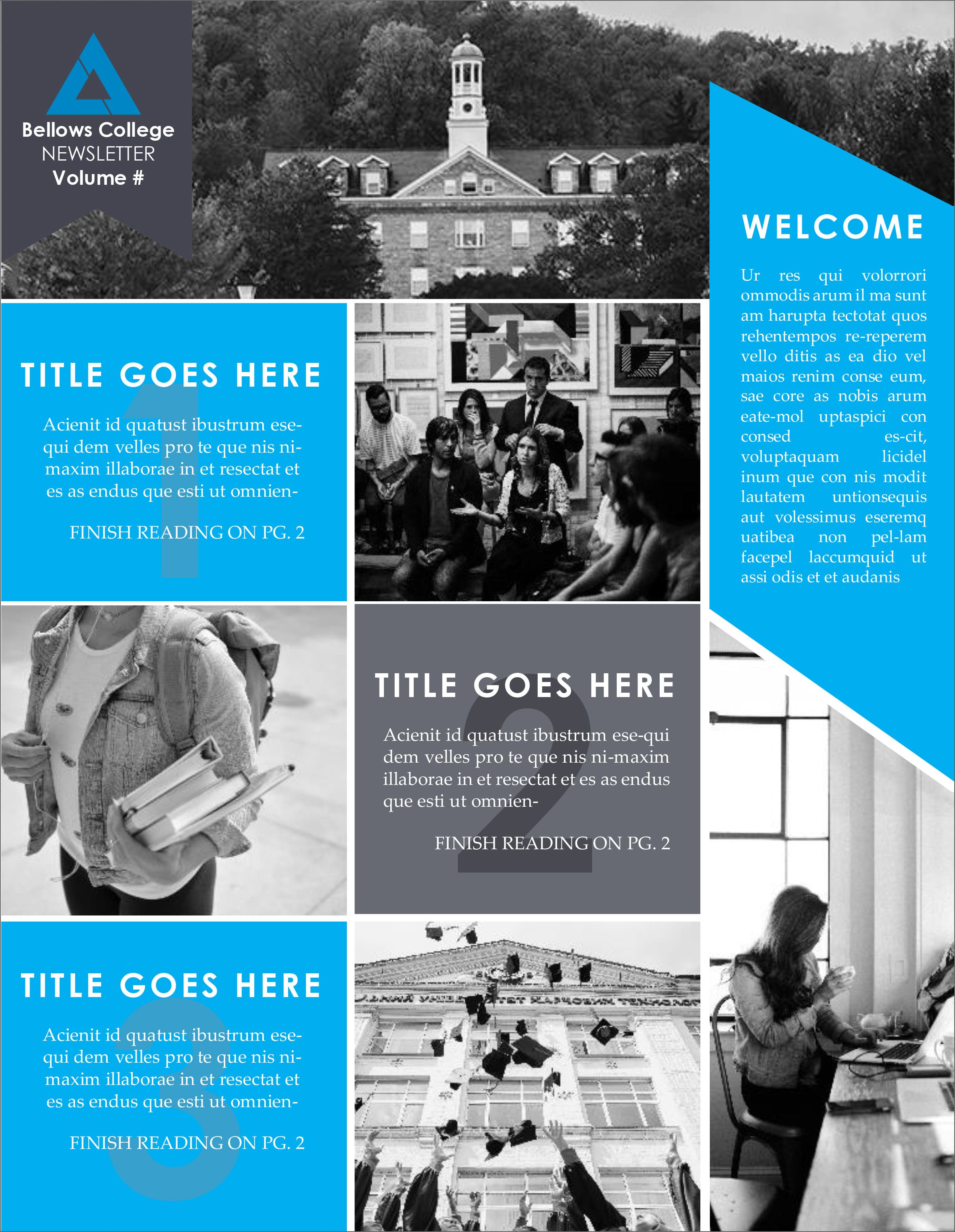 002 Formidable High School Newsletter Template Free Download Sample Full