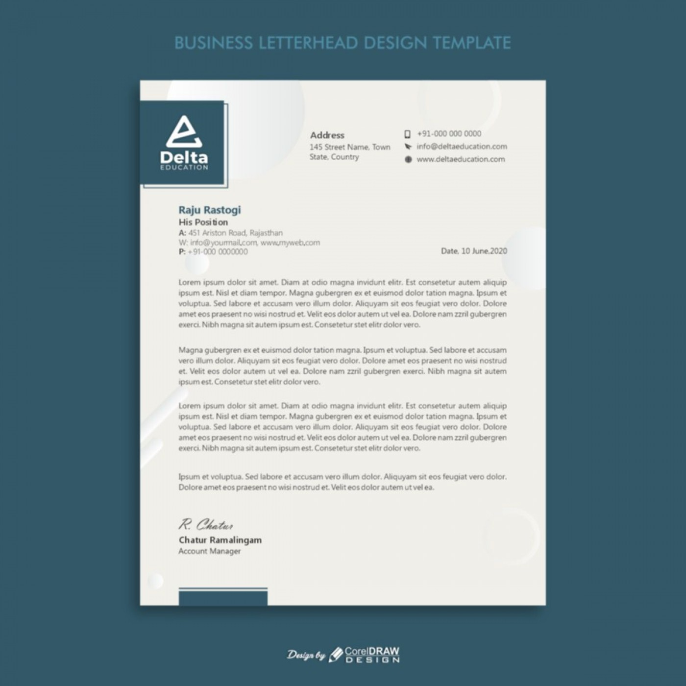002 Formidable Letterhead Template Free Download Cdr Sample 1400