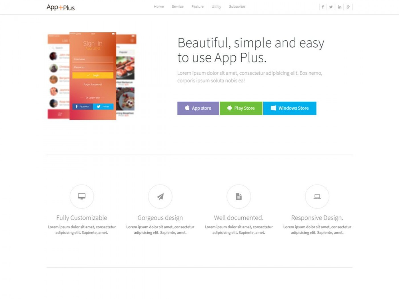 002 Formidable Lifetracker Free Responsive Bootstrap App Landing Page Template High Def 1400