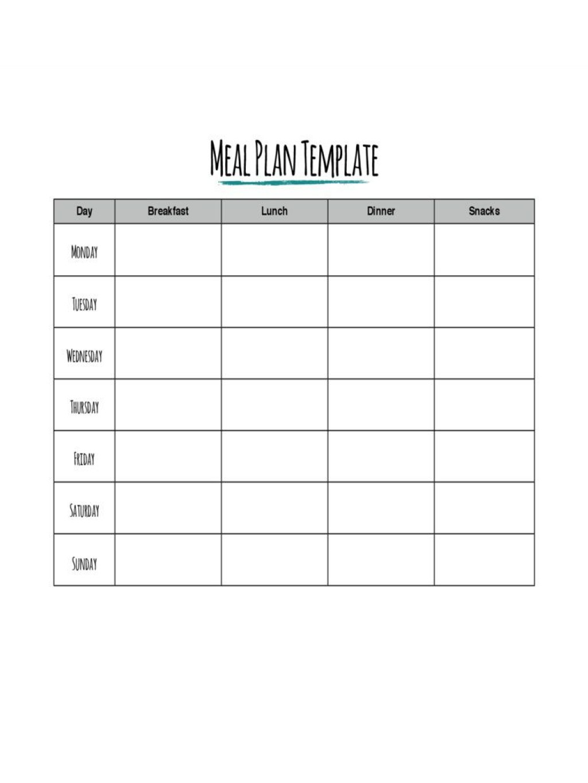 002 Formidable Meal Plan Template Pdf Example  Printable Diabetic Sample Weekly Planning WorksheetLarge