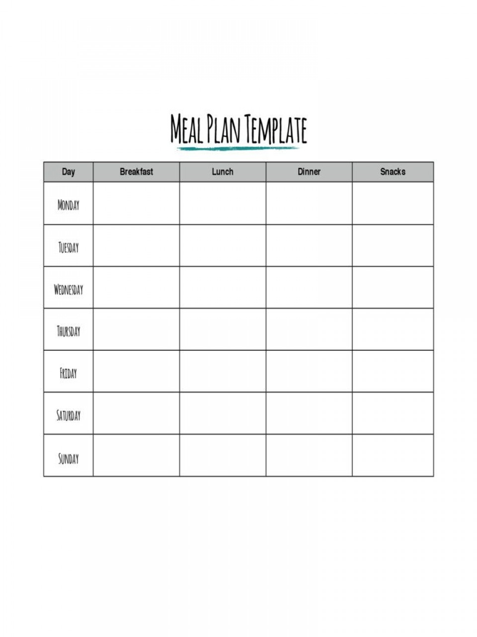 002 Formidable Meal Plan Template Pdf Example  Sample Diabetic960