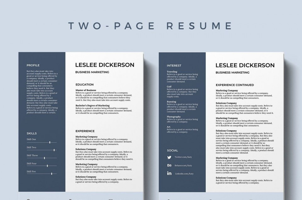 002 Formidable Modern Cv Template Word Free Download 2019 Highest Quality 960