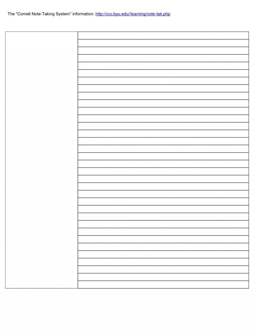 002 Formidable Note Taking Template Word Idea  Microsoft Cornell Doc MethodLarge