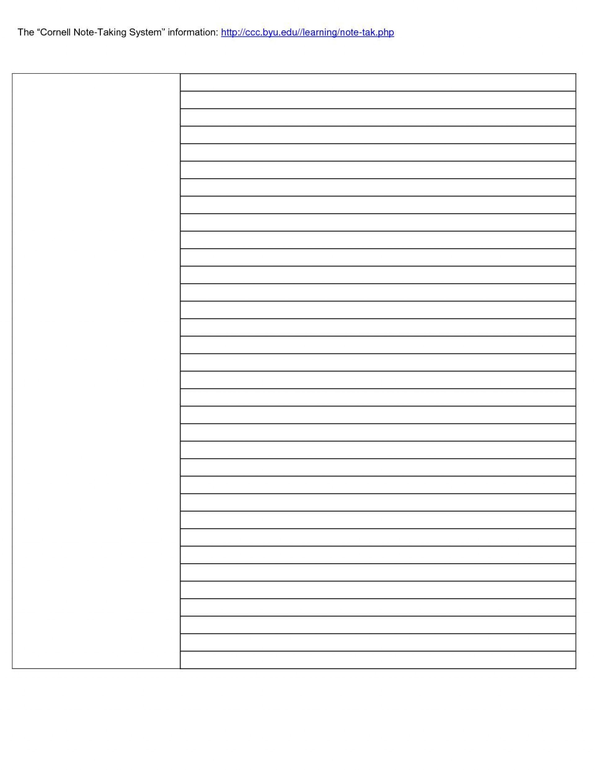 002 Formidable Note Taking Template Word Idea  Microsoft Cornell Doc Method1920