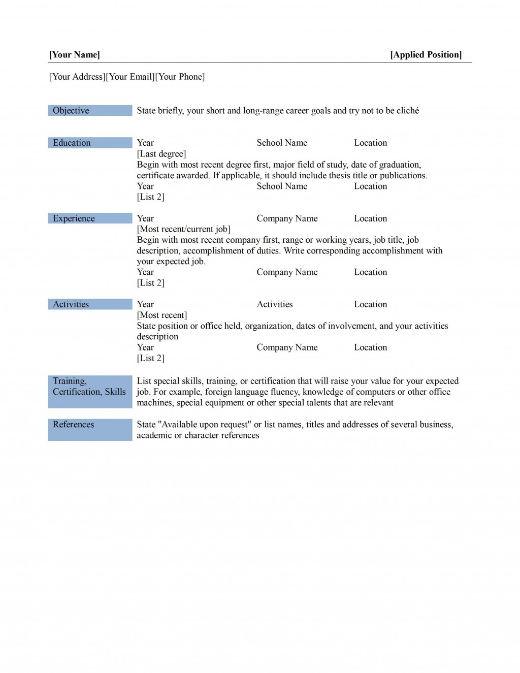 002 Formidable Professional Reference List Template Word Picture  FreeLarge