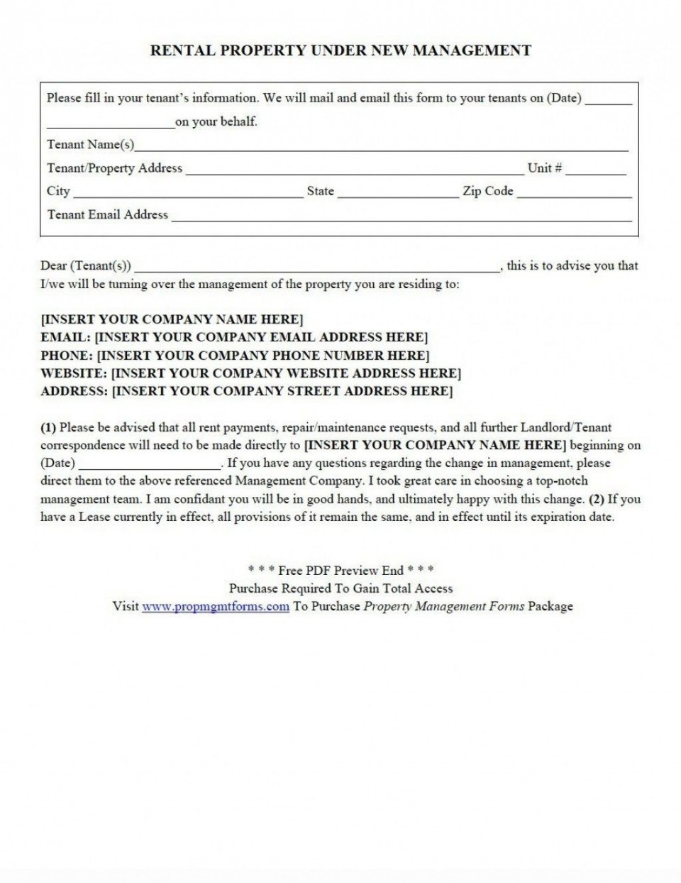 002 Formidable Property Management Contract Form Highest Clarity  Agreement Template Ontario960