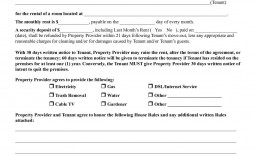 002 Formidable Sample House Rental Agreement Template Example  Contract Lease