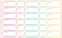 002 Formidable Weekly Meal Planner Template Excel Image  Downloadable Plan Editable