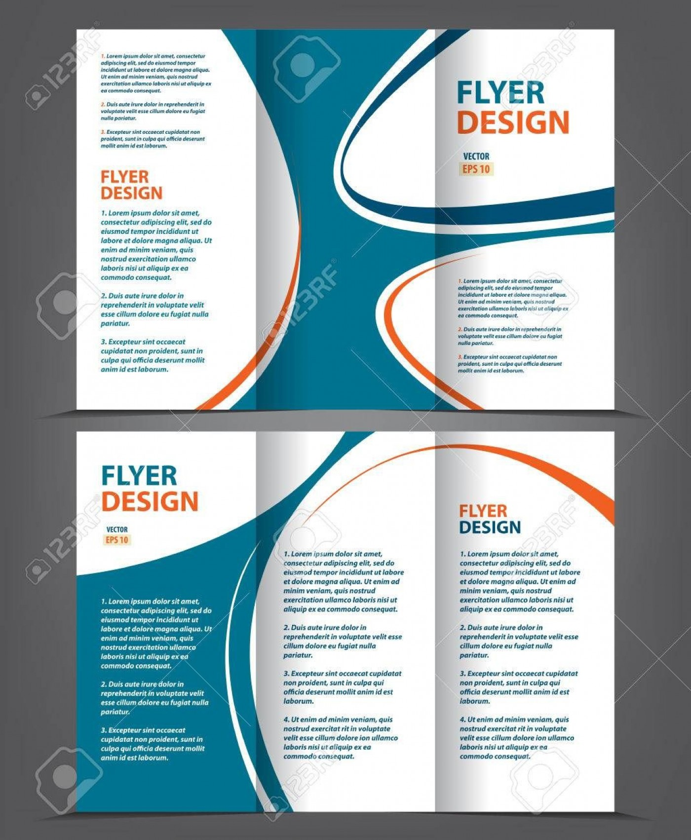 002 Frightening 3 Fold Brochure Template Highest Clarity  For Free1400