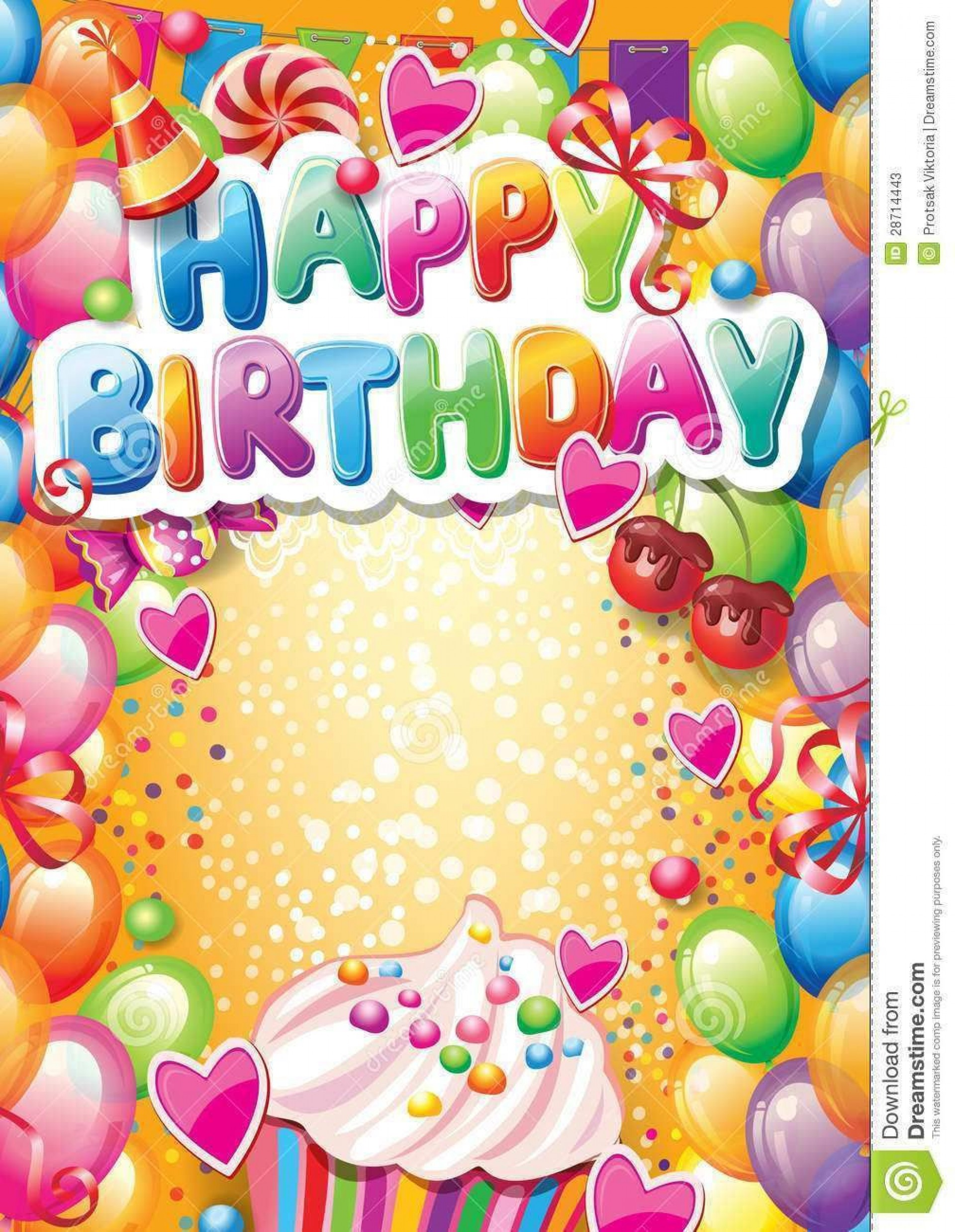 002 Frightening Birthday Card Template Free Image  Invitation Photoshop Download Word1920