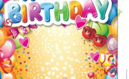 002 Frightening Birthday Card Template Free Image  Invitation Photoshop Download Word