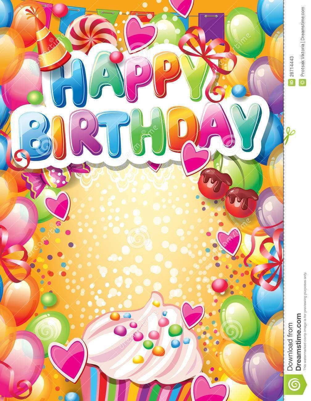 002 Frightening Birthday Card Template Free Image  Invitation Photoshop Download WordFull