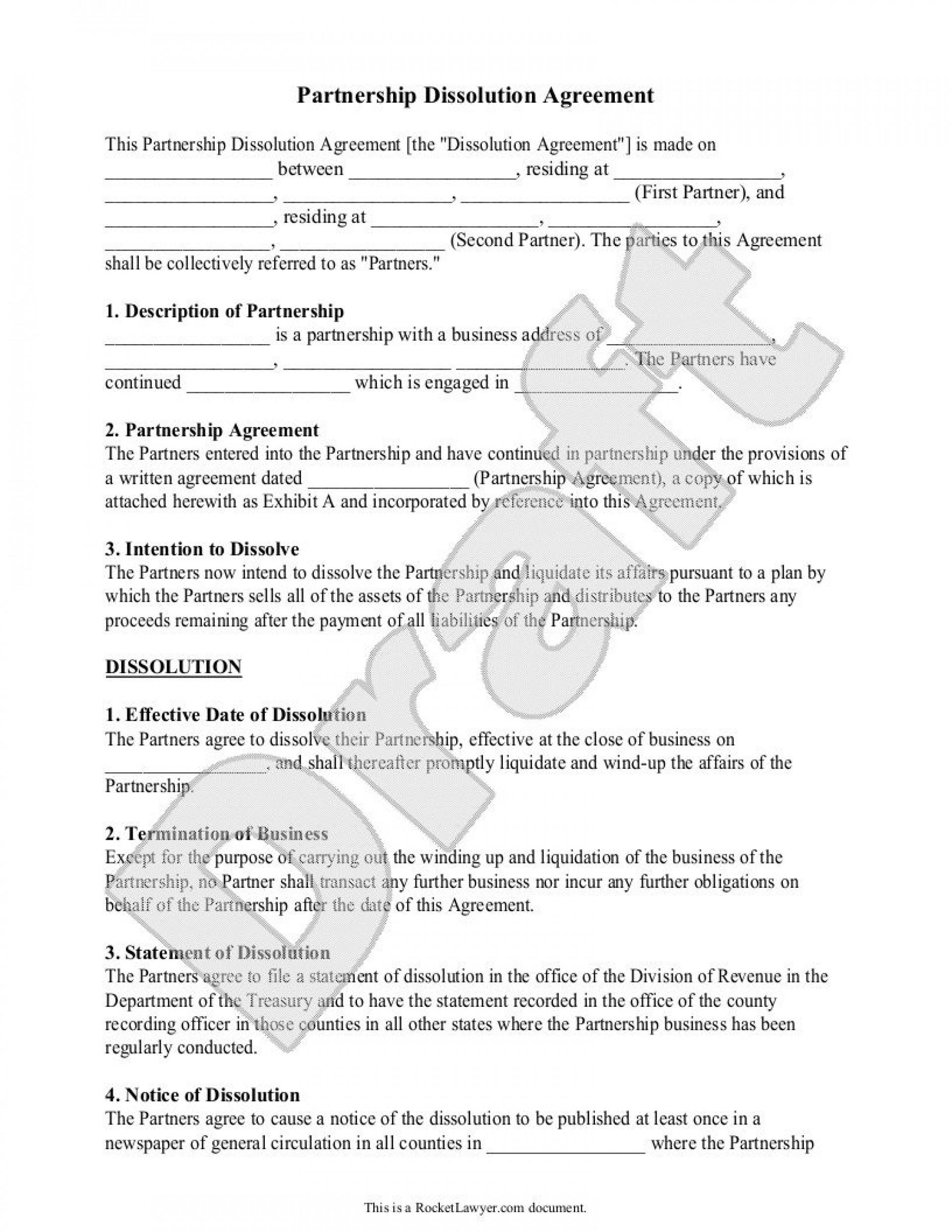002 Frightening Busines Partnership Separation Agreement Template High Def  Partner Termination1920