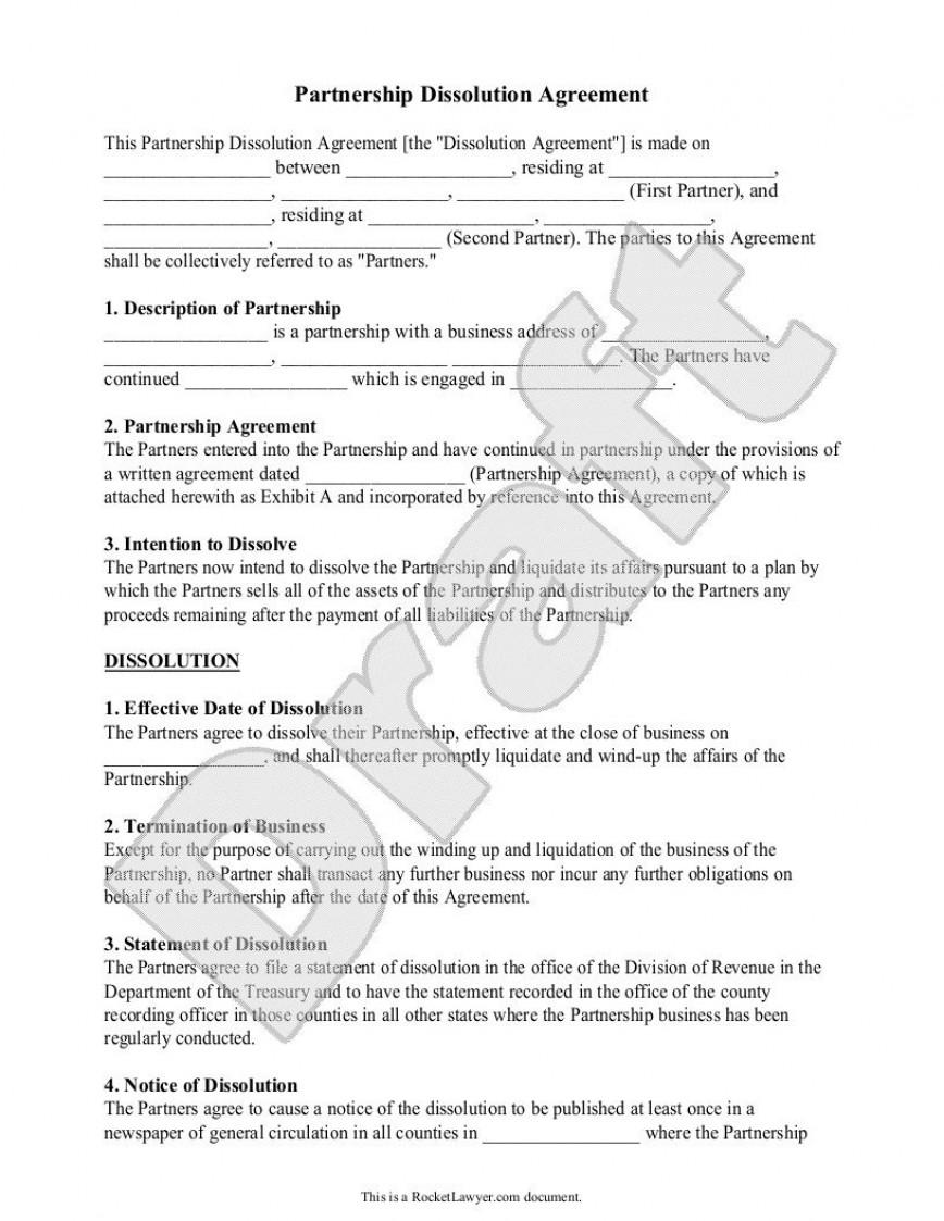 002 Frightening Busines Partnership Separation Agreement Template High Def  Partner