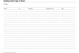 002 Frightening Busines Visitor Sign In Sheet Template Picture