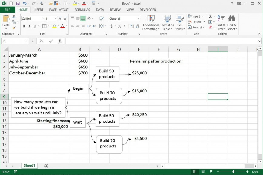 002 Frightening Decision Tree Template Excel 2016 Highest Quality