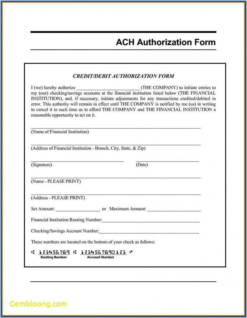 002 Frightening Direct Deposit Agreement Authorization Form Template Image Full