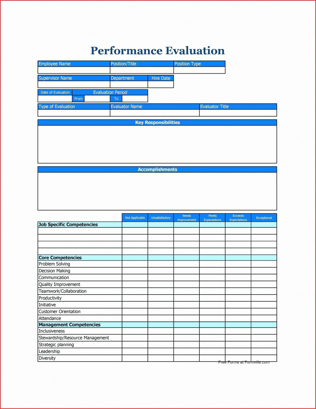 002 Frightening Employee Performance Review Template Word Highest Clarity  Microsoft DocumentLarge