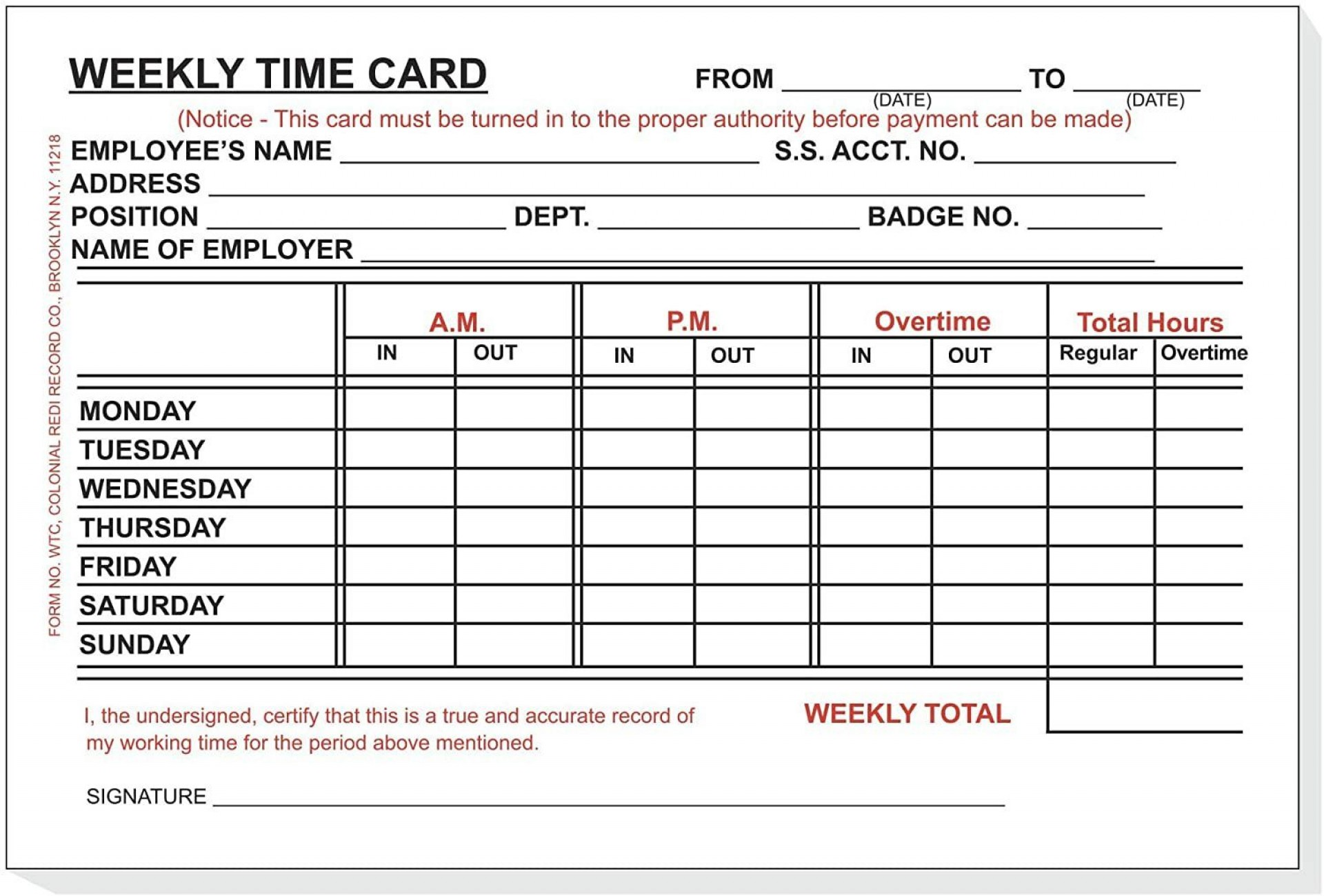 002 Frightening Employee Time Card Form High Def  Timesheet Template Excel Sheet Free1920