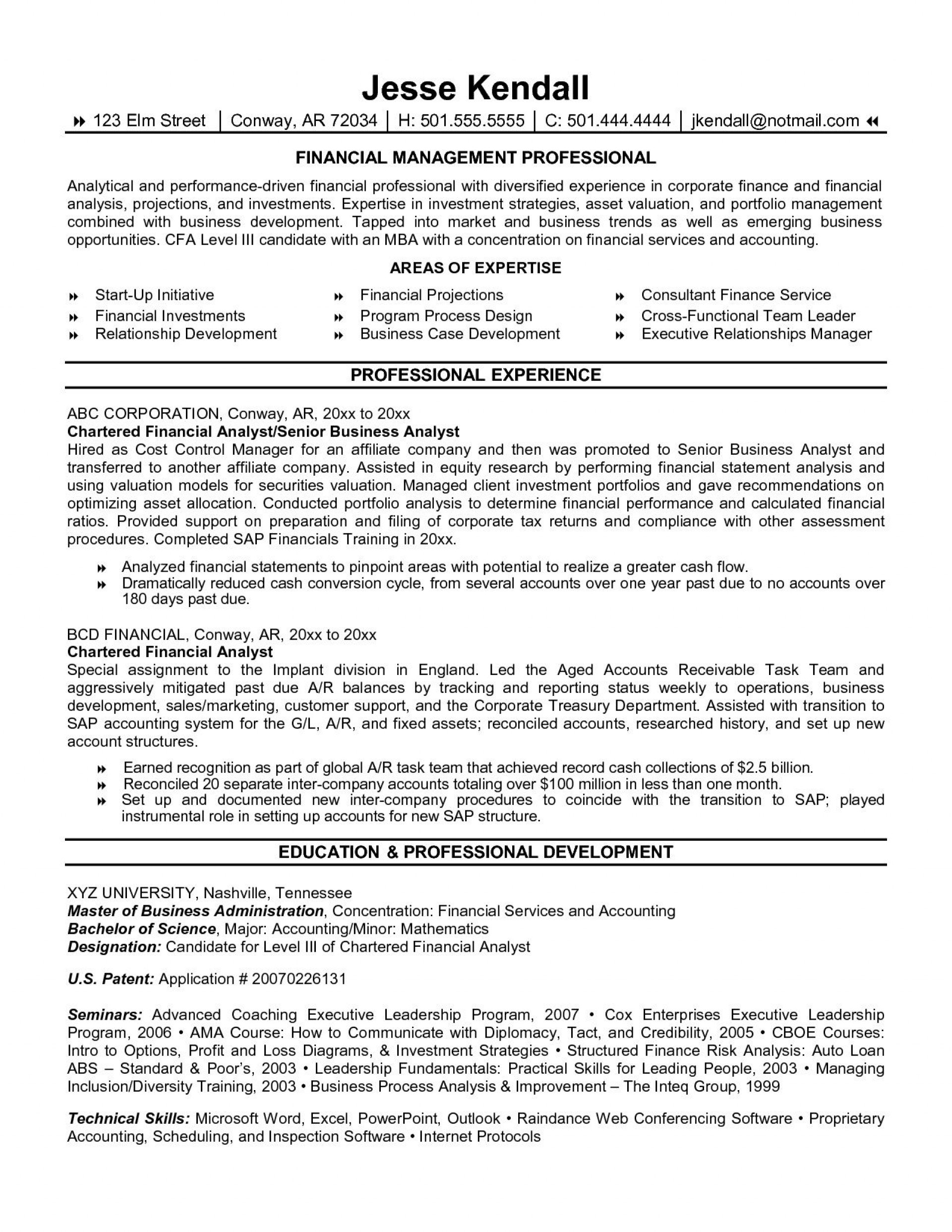 002 Frightening Finance Resume Template Word High Def  Financial Analyst Download1920