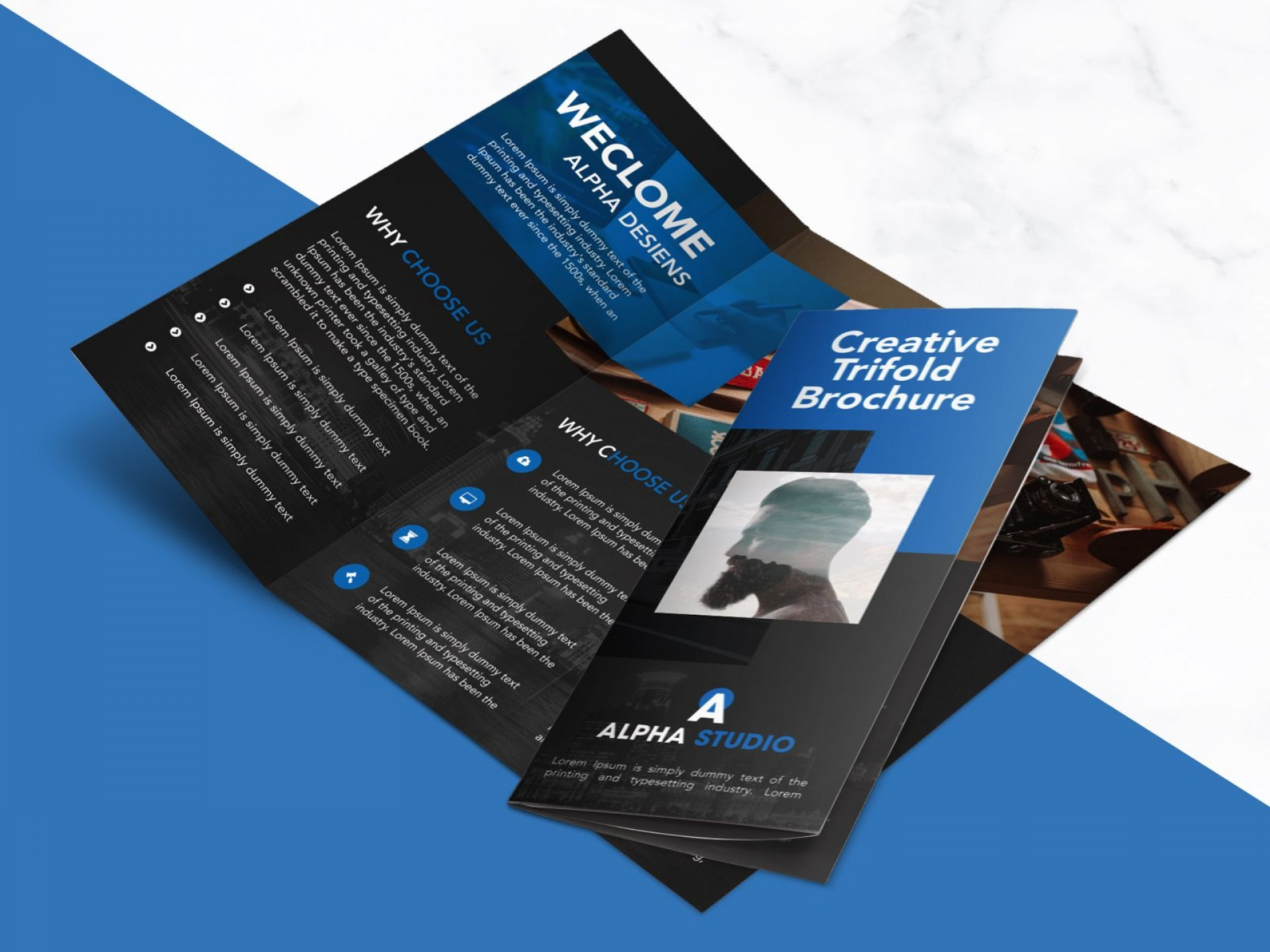 002 Frightening Free Brochure Template Psd Highest Clarity  A4 Download File Front And Back Travel1920