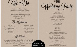 002 Frightening Free Template For Wedding Ceremony Program High Resolution  Programs
