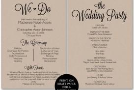 002 Frightening Free Template For Wedding Ceremony Program High Resolution