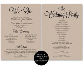 002 Frightening Free Template For Wedding Ceremony Program High Resolution 320