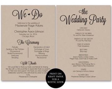 002 Frightening Free Template For Wedding Ceremony Program High Resolution 360