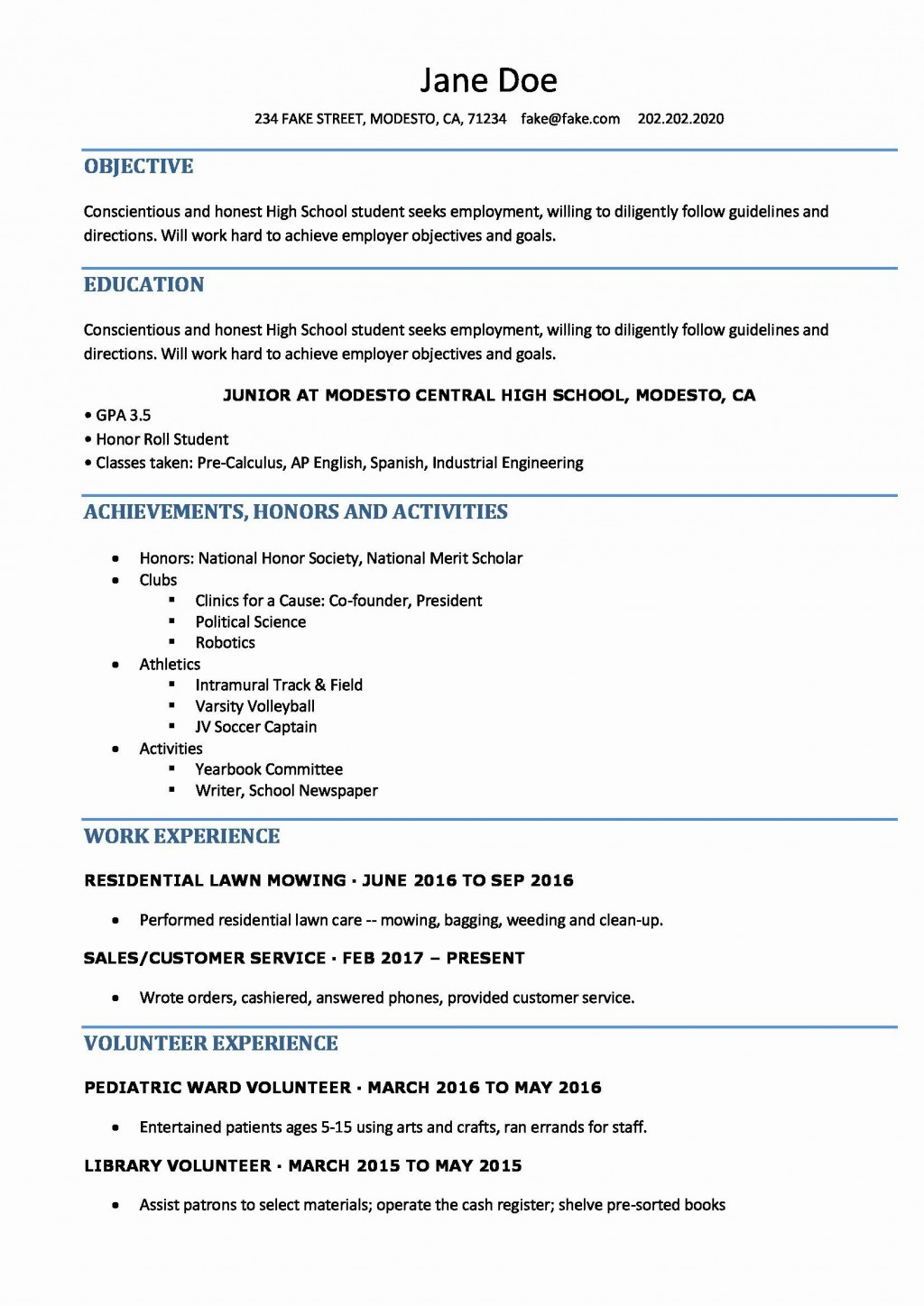 002 Frightening High School Student Resume Template Def  Free Microsoft Word 2010Large