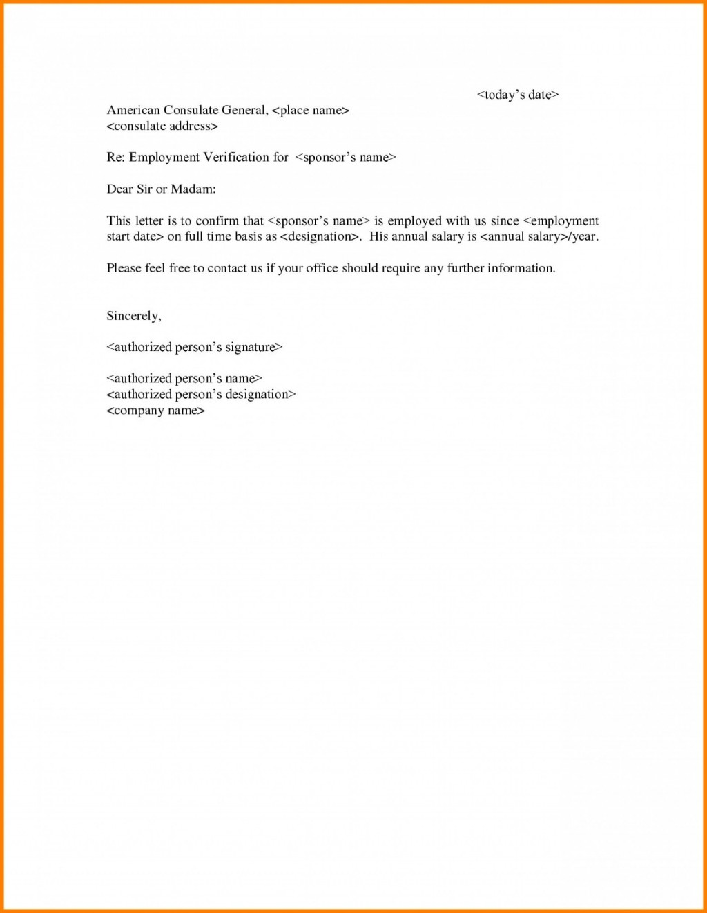 002 Frightening Income Verification Letter Template Picture  Word From Employer Proof OfLarge