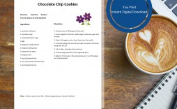 002 Frightening Make Your Own Cookbook Template Highest Clarity  Create Free