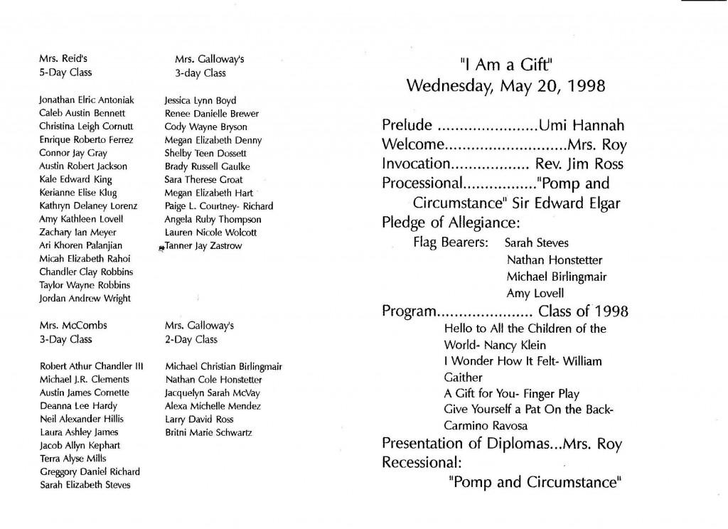 002 Frightening Preschool Graduation Program Template Photo  Templates Free Printable PdfLarge
