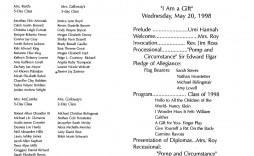 002 Frightening Preschool Graduation Program Template Photo  Templates Free Printable Pdf