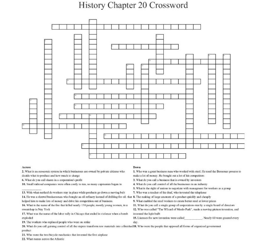 002 Frightening Prosperity Crossword Sample  Clue 6 Letter Material Prosperou 4Large