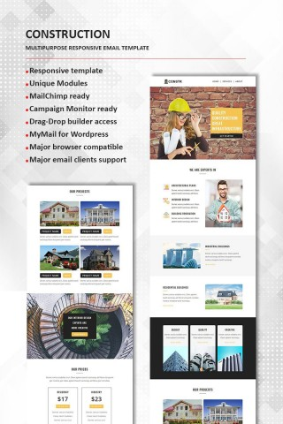 002 Frightening Real Estate Newsletter Template Design  Free Mailchimp320