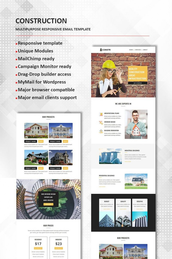 002 Frightening Real Estate Newsletter Template Design  Free Mailchimp728