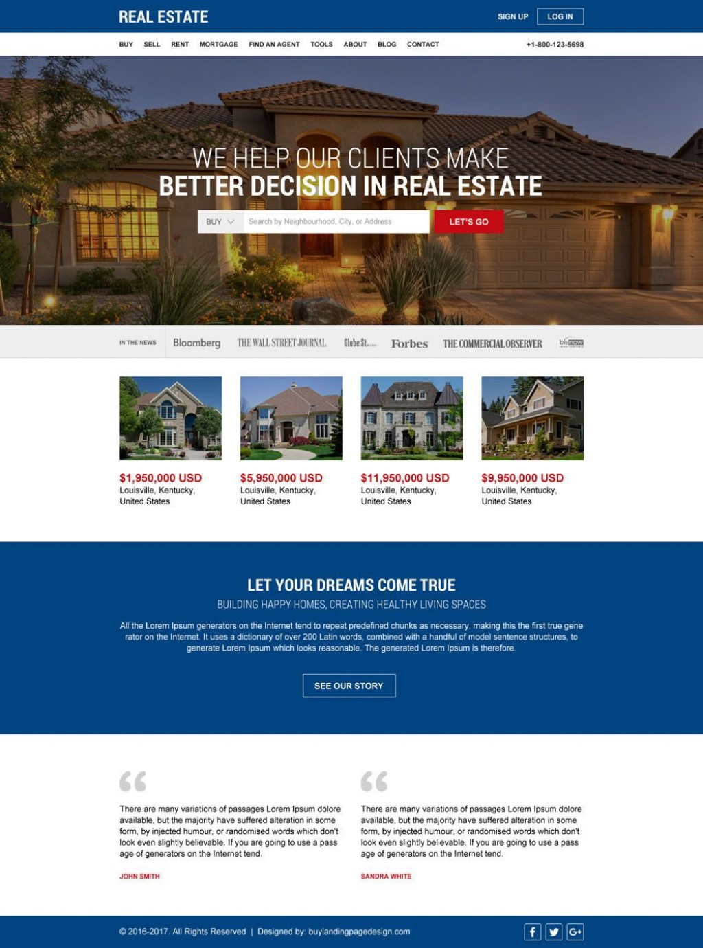002 Frightening Real Estate Website Template Example  Templates Bootstrap Free Html5 Best WordpresLarge