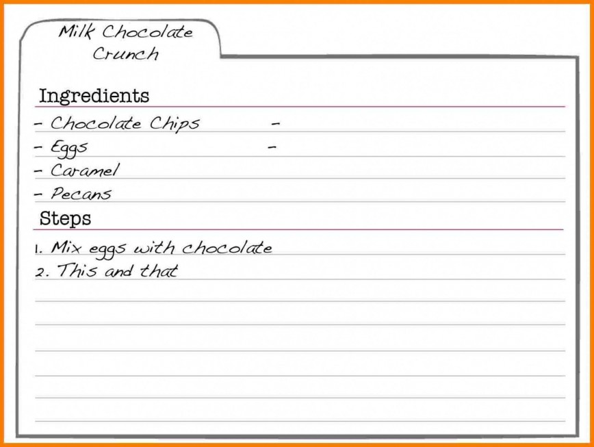 002 Frightening Recipe Card Template For Word Highest Clarity  5x7 Editable Blank