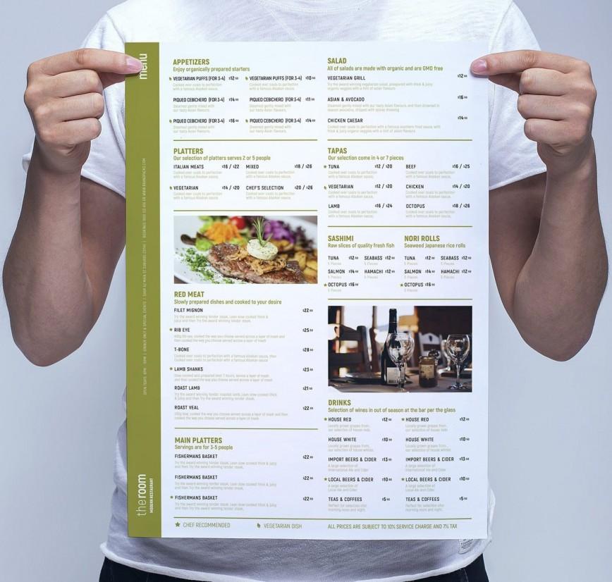 002 Frightening Restaurant Menu Template Free Photo  Blank Word Google Doc Indesign Download