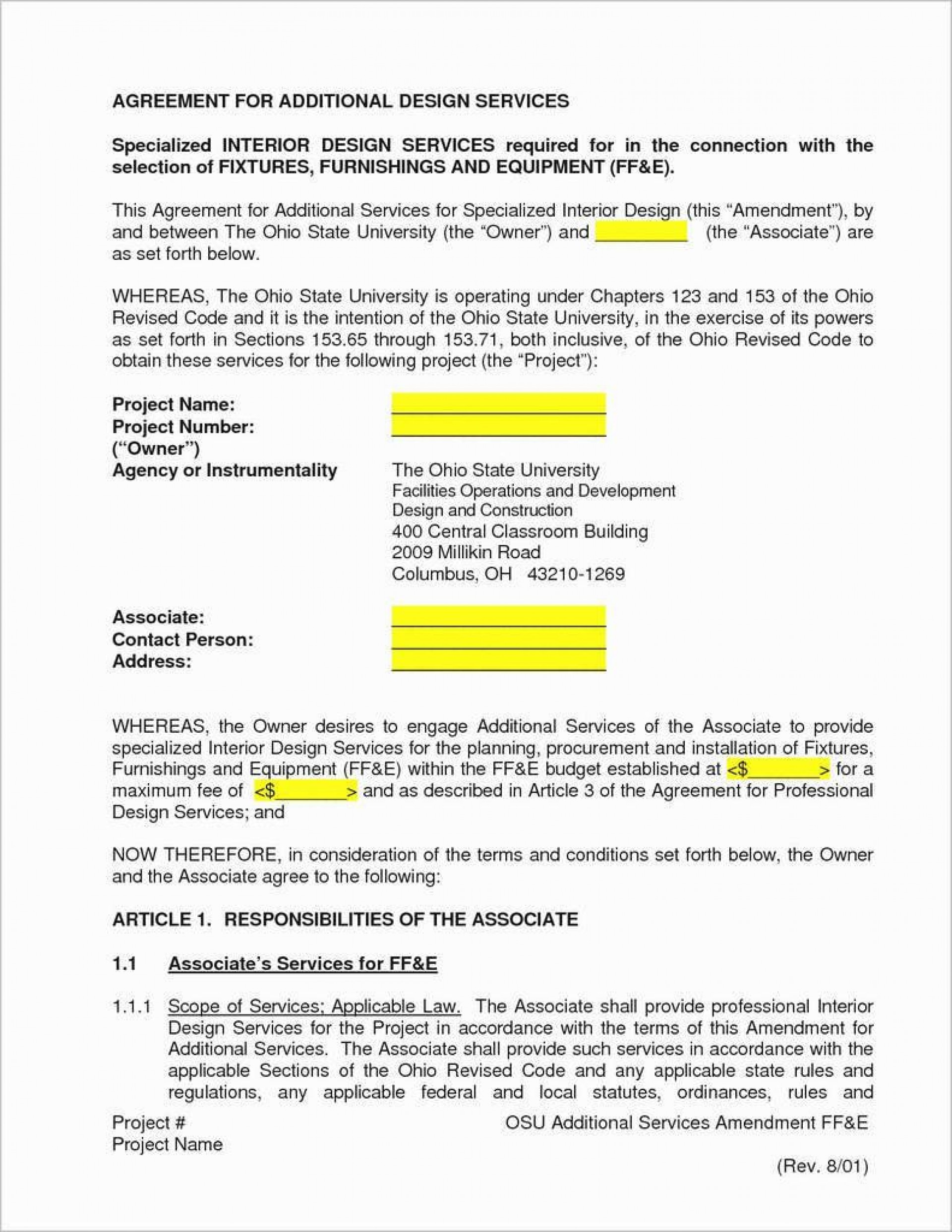 Service Contract Template Pdf Addictionary
